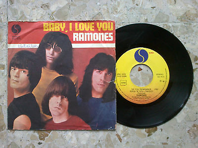 "RAMONES - BABY I LOVE YOU / DO YOU REMEMBER.. - 7"" 1980 ITALY press VG+/EX- RARE"