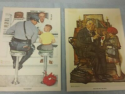 1972 Norman Rockwell Prints Doctor & the Doll and The Runaway