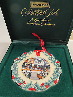 Longaberger 1998 Collectors Club Porcelain Christmas Ornament - NEW in Box