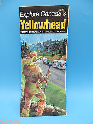 Vintage 1976 Yellowhead Interprovincial Highway Map - Western Canada