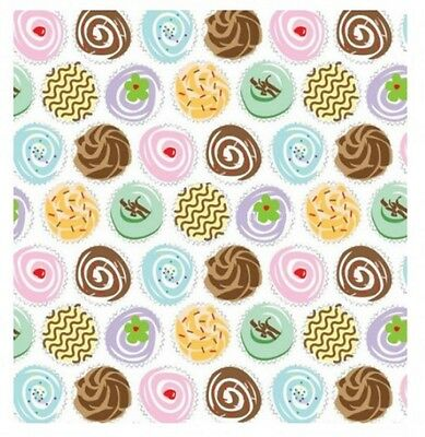Cupcake / Cake Print - Luxury Acid Free Tissue Wrapping Paper Sheets 35cm x 45cm