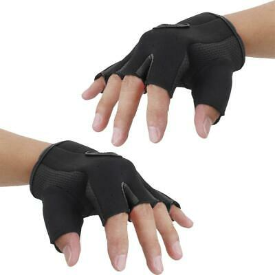 Pair Outdoor Sports Cycling Bicycle Bike Half Finger Fingerless Gloves Mittens