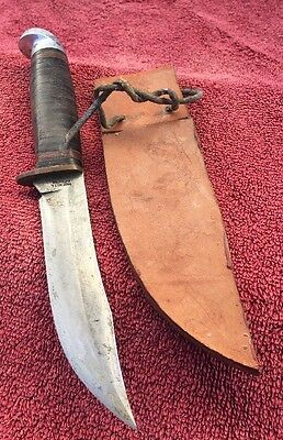 Vintage Western Bowie Knife Official Boy Scouts Of America With Sheath
