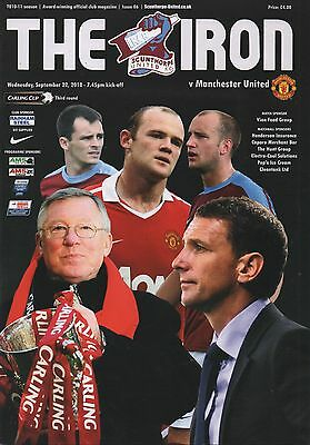 10/11 Scunthorpe United v Manchester United  (Includes Poster)