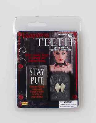 Vampiress Vampire Dracula Fake Teeth Fangs Halloween Costume Accessory