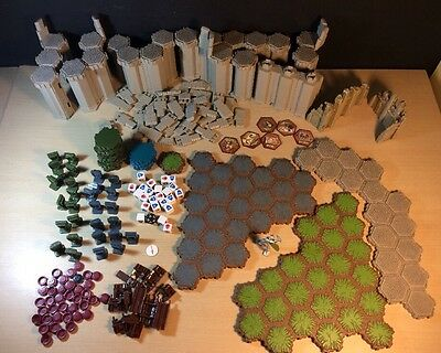 Heroscape Huge Lot  Castle Wall Tower Set Dice Knight Incomplete