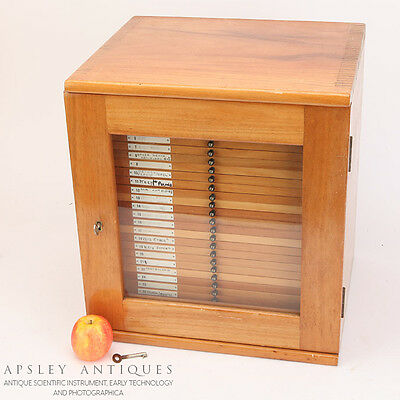 A Large Wooden Microscope Slide Cabinet For 1008 Slides