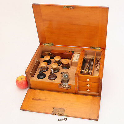 A Good Microscope Slide Preparation Kit By Watson & Sons, London - Antique