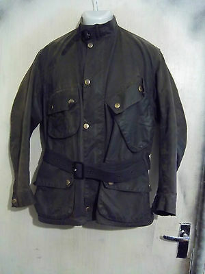 Barbour A7 International Suit Waxed Motorcycle Jacket Size C44 112Cm