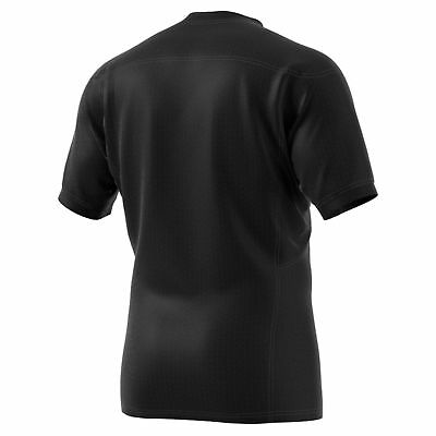 adidas Mens Gents Rugby New Zealand All Blacks Home Shirt Jersey Top - Black