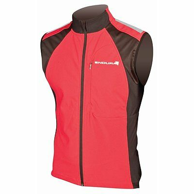 Endura Windchill II Thermal Cycling Gilet - Red