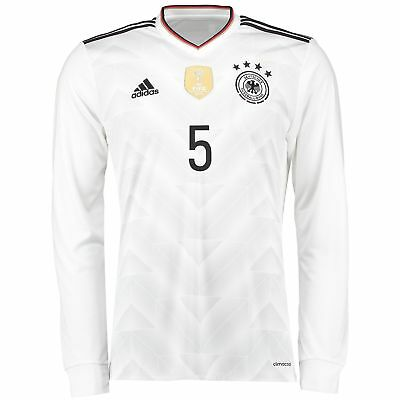 adidas Mens Football Germany Confederations Cup Long Sleeve Home Shirt 2017