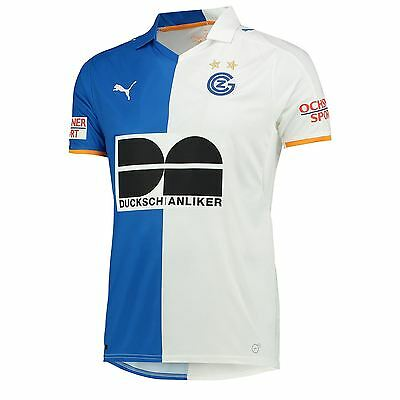 Puma Mens Gents Football Soccer FC Zurich Home Shirt Jersey 2016-17 - Blue White
