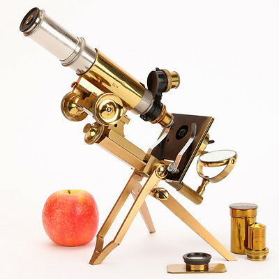 Swift's Folding Improved Clinical, Zoologist & Field Microscope - Brass