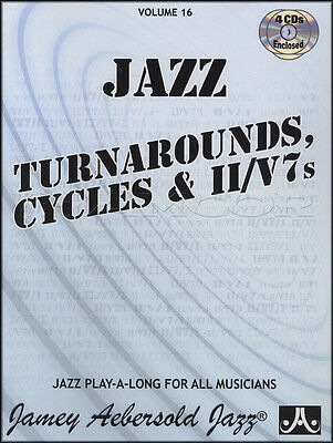 Jazz Turnarounds Cycles and II / V7's Sheet Music Book with CDs All Instruments