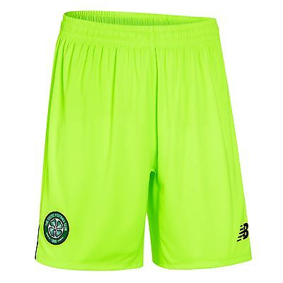 New Balance Mens Gents Football Soccer Celtic Home Goalkeeper Shorts 2016-17