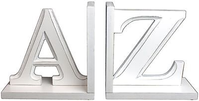 Fabulous White A-Z Book Ends