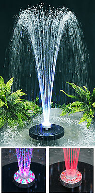 Water Pump Floating Water Feature Fountain Cascade With Colour Changing Lights