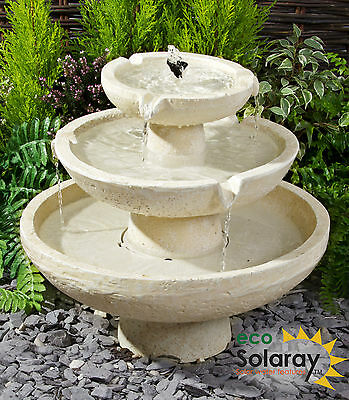 Tier Tiered Water Fountain Feature Waterfall Cascade Classical Stone Effect