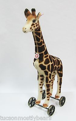Steiff Giraffe on Wheels, Limited Edition, Retired, Rare, Photos of Actual Piece