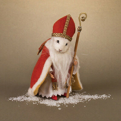 R John Wright brand new Christmas Mouse St. Nicholas IN STOCK