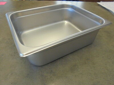"""6-Pack Half Size 4"""" Deep Stainless Steel Hotel Steam Table Food Pans SHIPS FREE"""