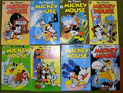 MICKEY MOUSE - 219-256 - komplette Serie 1986-1990 GLADSTONE - US