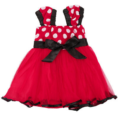 abb61c0b10f0 DISNEY INFANT   Toddler Girls Black   Red Polka Dot Minnie Mouse ...