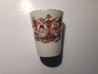 A superb 1911 King George V Commemorative China Beaker by Colclough