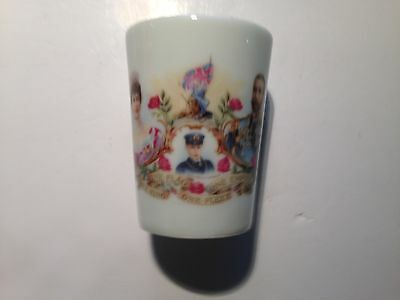 Mega rare 1911 King George V Lithograph Commemorative Beaker