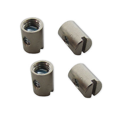 4 x Trunnion Klemm Nipple 0 3/16x0 5/16in for Bowden Cable Universal 330200