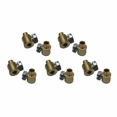 10x Trunnion self-locking nipple 0 3/8x0 5/16in for Bowden Cable Universal