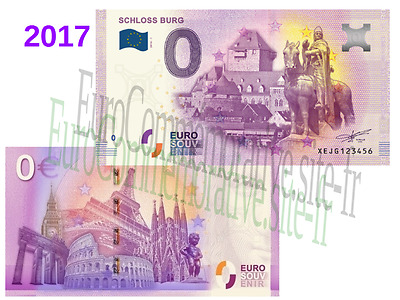 ALL - Billet Touristique Zéro Euro France 2017 Schloss Burg !