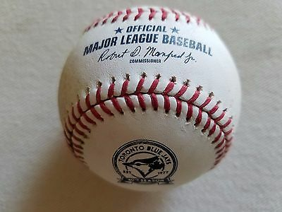 Game Used MLB Baseball Toronto Blue Jays 40th Anniversary vs Houston Astros