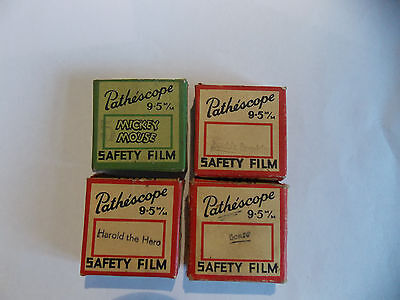 Vintage Pathescope Mickey Mouse and others9.5mm Films