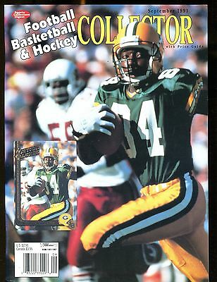 SCD Collector September 1991 Sterling Sharpe w/Mint Cards jhscd