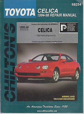 Toyota Celica T200 Series 1.8L Coupe & Convertible 1995 - 1998 Workshop Manual