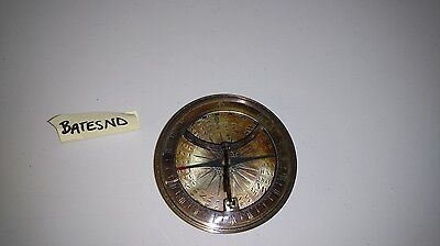 Heavy Brass Bronze Authentic Antique Style Maritime Nautical Compass Functions!