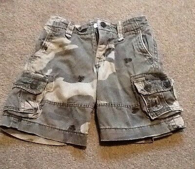Boys Gap Camo Camouflage Army Skull Print Cargo Shorts Age 5 - 6 Years