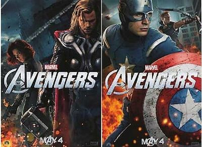 Avengers ~ Captain America & Thor ~ Original Movie Poster Double Sided 13x19 NEW