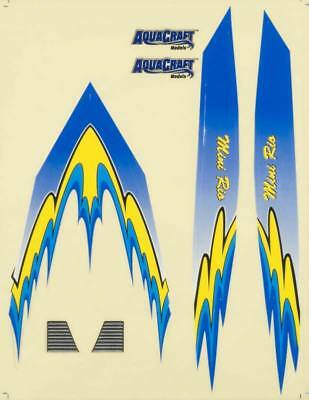 NEW AquaCraft Decal Sheet Blue Mini Rio AQUB6327