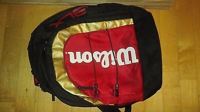 Wilson BLX Tour Black Backpack Tennis badminton Hold 2-3 racquets