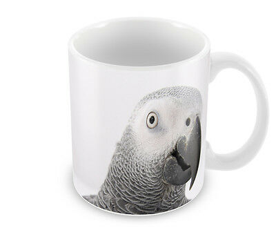 Grey Parrot   Coffee Mug   With Free Personalisation    Great Gift