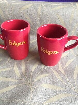 VTG Red Folgers Coffee Cups Proctor And Gamble Company