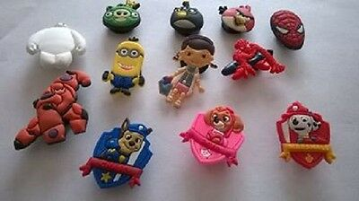 Girls & boys croc badges Spiderman Paw patrol Angry birds Minions Doc McStuffins