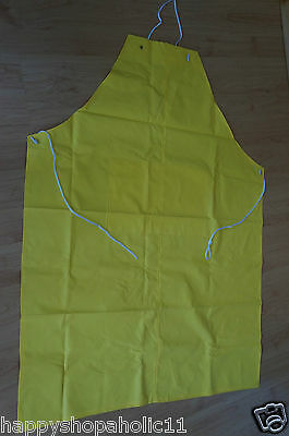 Industrial Waterproof Yellow PVC Apron 34 x 45 In. RESTAURANT BUTCHER DISHWASHER