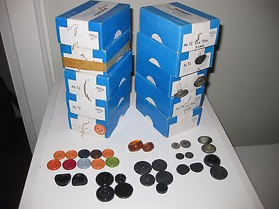 Vintage Buttons New In Box Lot of 10 boxes N.O.S.