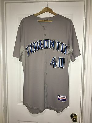 2008 Toronto Blue Jays Game Used Worn Jersey Brian Wolfe Size 48