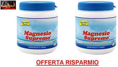 MAGNESIO SUPREMO NATURAL POINT 2 x 300 GR = 600 gr ANTISTRESS NATURALE