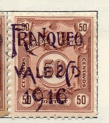 Peru 1916 Early Issue Fine Mint Hinged 2c. Surcharged Optd 128668